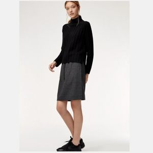 The Group by Babaton Jimmy Tie-Waist Plaid Skirt